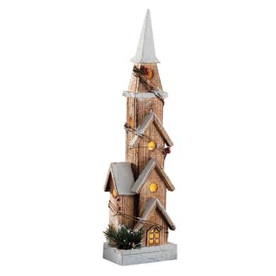 Casetta a led in legno , L 14 cm  x P 10 cm