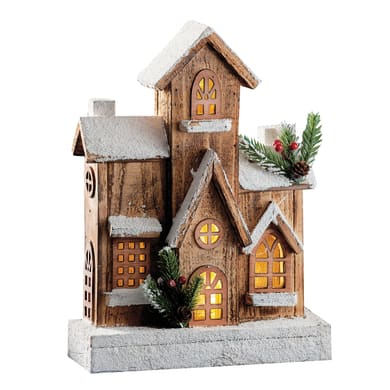 Casetta a led in legno , L 24 cm  x P 9 cm