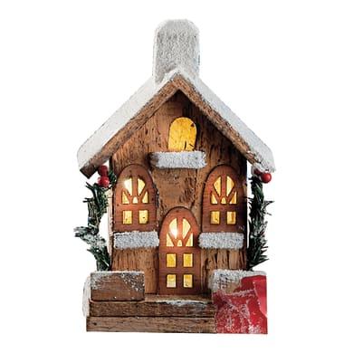 Casetta a led in legno , L 13 cm  x P 9 cm