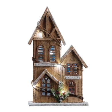 Casetta a led in legno , L 21 cm  x P 6 cm