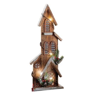 Casetta a led in legno , L 15 cm  x P 6 cm