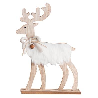 Renna  in legno , L 18 cm  x P 5 cm