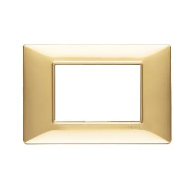 Placca VIMAR Plana 3 moduli oro lucido