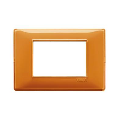 Placca VIMAR Plana 3 moduli reflex arancio
