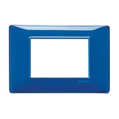 Placca VIMAR Plana 3 moduli reflex zaffiro