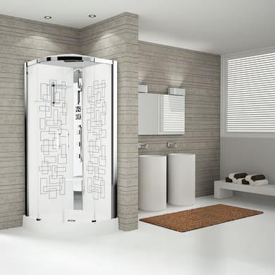 Cabina doccia idromassaggio semicircolare ROYAL 90 x 90 cm