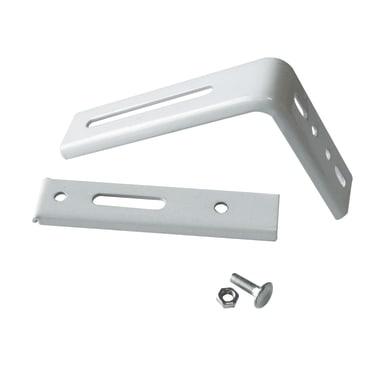 Supporto singolo chiuso X in ferro bianco