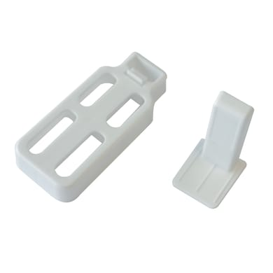 Supporto autoserrante Ø8<multisep/>10mm in plastica bianco opaco, 2 pezzi