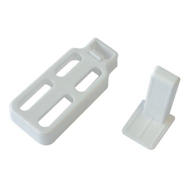 Supporto autoserrante Ø8<multisep/>10mm in plastica bianco opaco, 3 pezzi