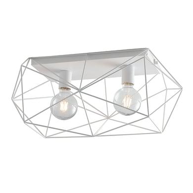 Plafoniera Abraxas bianco, in metallo, 30x60 cm, E27 2xMAX40W IP20