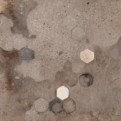 Piastrella Fonderie 30.4 x 61 cm sp. 9 mm PEI 4/5 nero/marrone