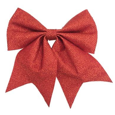 Fiocco Fiocco in tessuto rosso brillante H 24 cm, L 20 cmx P 1 cm,
