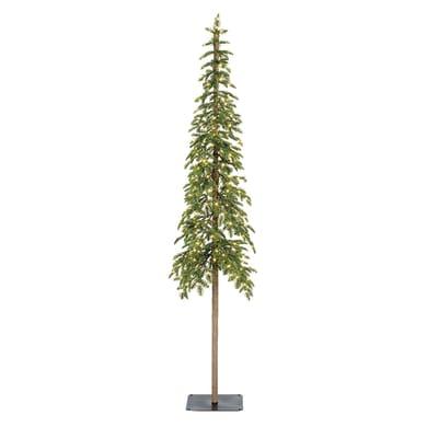 Albero di natale artificiale Alpine Tree illuminato verde H 180 cm