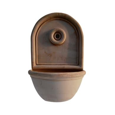 Fontana a parete Colony con piatto in calcestruzzo H 23 cm, 43 x 25 cm