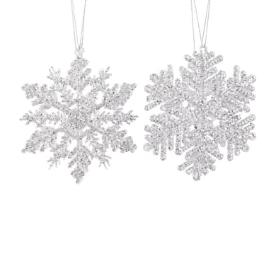 Fiocco Set 2 fiocchi di neve trasparenti