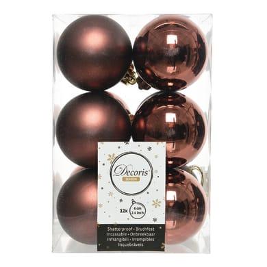 Sfera natalizia in plastica Ø 6 cm confezione da 6 pezzi