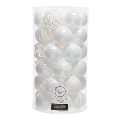 Sfera natalizia in plastica Ø 6 cm confezione da 37 pezzi