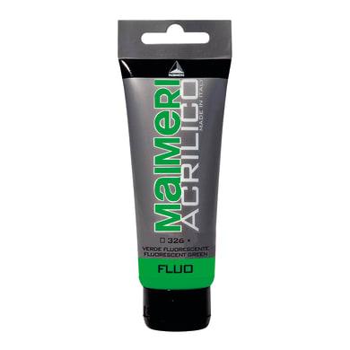 Colore acrilico MAIMERI   0.75 L verde fluorescente