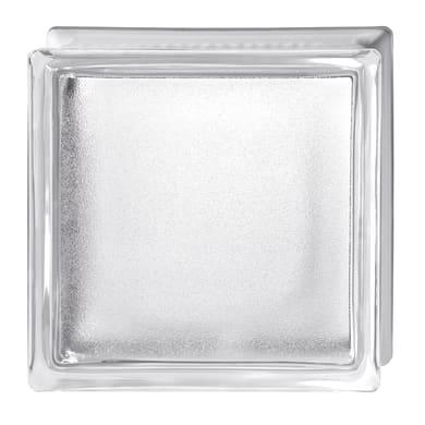 Vetromattone BORMIOLI Satinato bianco liscio H 19 x L 19 x Sp 8 cm