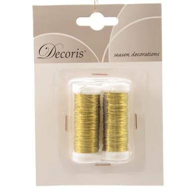 Accessori di natale giallo / dorato 2 pezzi