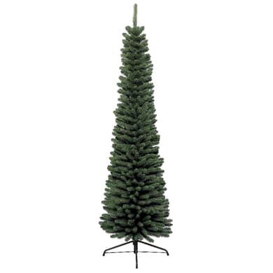 Albero di natale artificiale Slim verde H 150 cm,