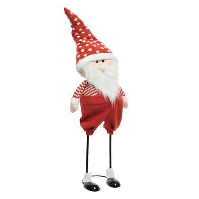 Babbo Natale che rimbalza in poliestere H 110 cm, L 31 cm  x P 25 cm
