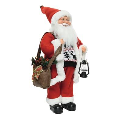 Babbo Natale in tessuto H 60 cm, L 30 cm  x P 20 cm