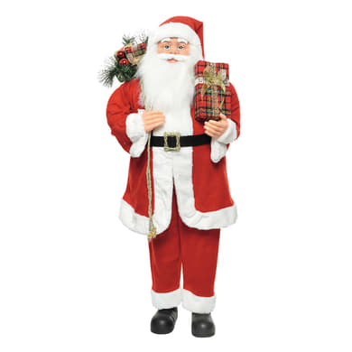 Babbo Natale in tessuto H 11 cm, L 40 cm  x P 26 cm