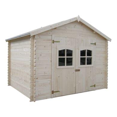 Casetta da giardino in legno Fiesole,  superficie interna 8.17 m² e spessore parete 28 mm