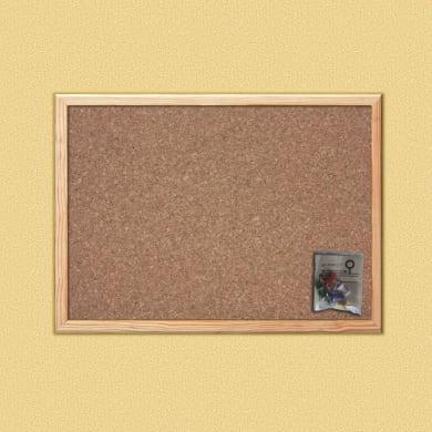 Bacheca in sughero Cornice naturale 45x30 cm