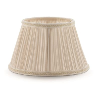 Paralume per lampada da tavolo personalizzabile  Ø 30 cm avorio in tessuto Inspire