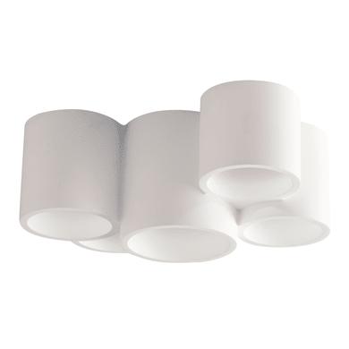 Plafoniera Banje bianco, in gesso, GU10 5xMAX35W IP20