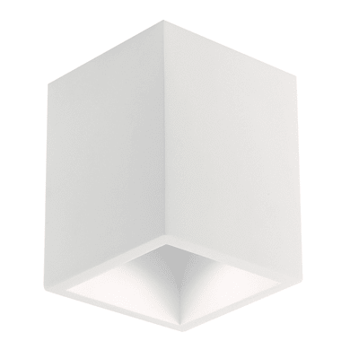 Plafoniera design Foster bianco, in gesso,