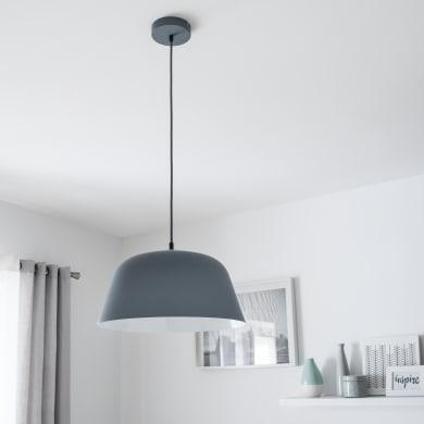 Lampadario Scandinavo Bells grigio in metallo, D. 40 cm, L. 124.0 cm, INSPIRE