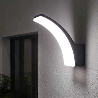 Applique Lakko LED integrato in alluminio, antracite, 11W 1200LM IP44 INSPIRE