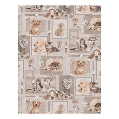 Passatoia Digit Puppies , beige, H 51