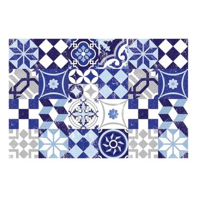 Passatoia Digit Maiolica , azzurro, 50x50 cm