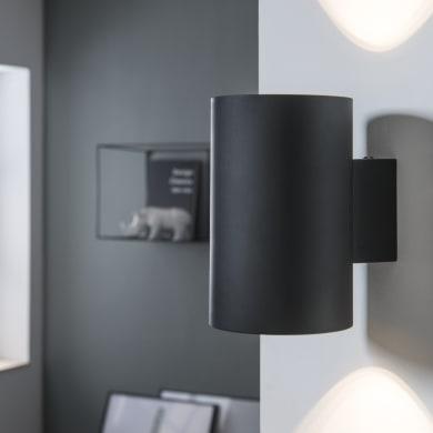 Applique design Leto nero, in metallo,  D. 12.7 cm 2 luci INSPIRE
