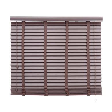 Veneziana Effetto legno in pvc, noce, 90x175 cm