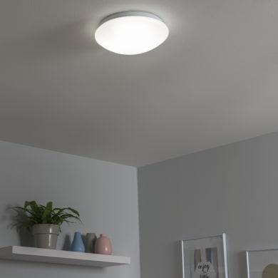 Plafoniera moderno Moon LED integrato bianco D. 25 cm 25x25 cm, INSPIRE