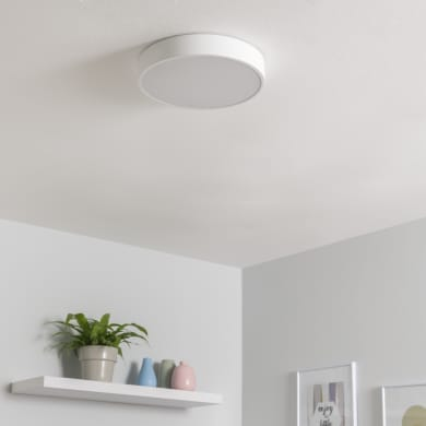 Plafoniera design Caty LED integrato bianco, in ferro,  D. 30 cm INSPIRE