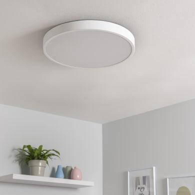 Plafoniera Caty bianco, in ferro, 50x50 cm, diam. 50 , IP20 INSPIRE