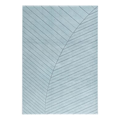 Tappeto Handcarved d , blu, 160x230 cm