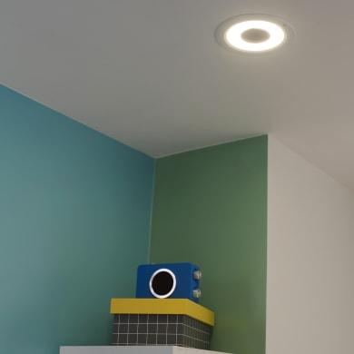 Faretto fisso da incasso tondo Music bianco, diam. 14.2 cm LED integrato 8W 850LM IP44 INSPIRE