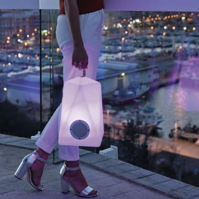 Lampada da esterno Faralay H39cm, in plastica, luce colori cangianti, LED integrato IP54