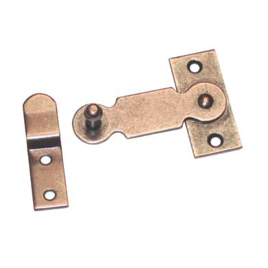 Chiavistello sovrapposto STANDERS in acciaio L 50 x H 22 mm