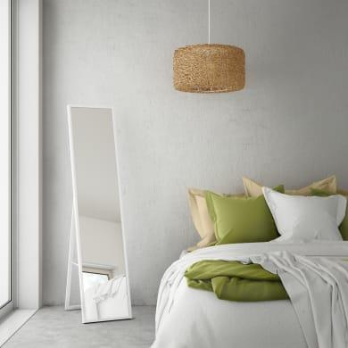 Specchio da terra rettangolare Milo bianco 32x142 cm INSPIRE