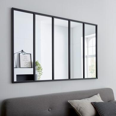 Specchio a parete rettangolare Atelier nero 140x90 cm INSPIRE