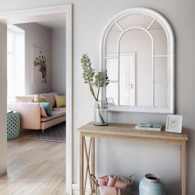 Specchio a parete ovale Ventana bianco 74x104 cm INSPIRE