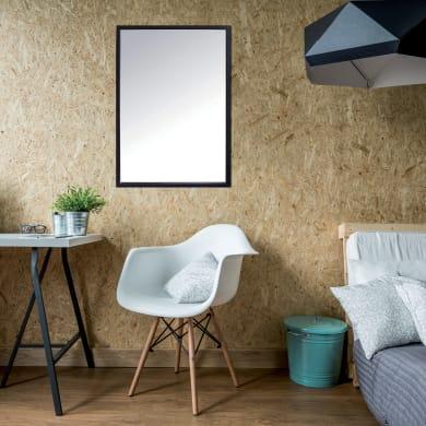 Specchio a parete rettangolare Milo nero 40x60 cm INSPIRE